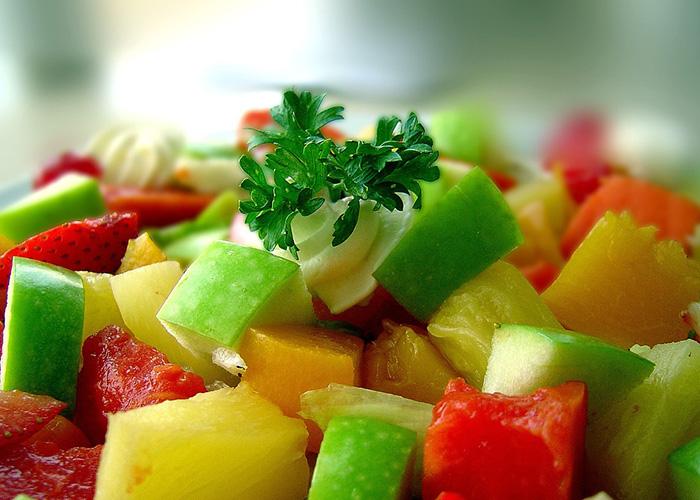A healthy fruit salad