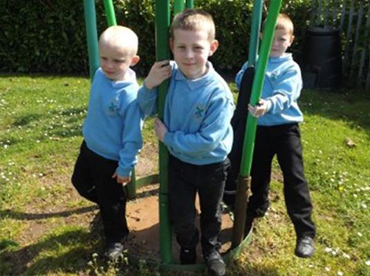 Boys in their full uniform