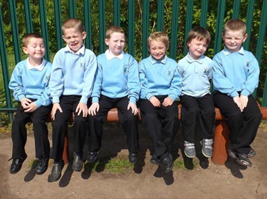 Boys in their uniform