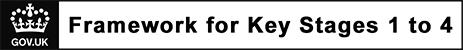 England Government website link - framework for key stages 1 to 4