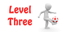 Go to the 'Level 3 Football Quiz'
